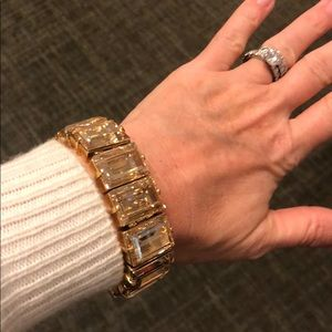 Henri Bendel Glass Stone Statement Bracelet
